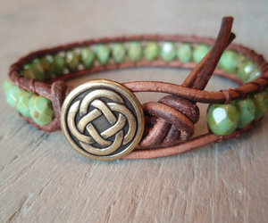 beads, celtic, and green image