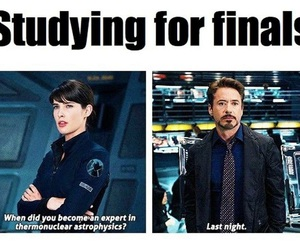 funny, final, and studying image