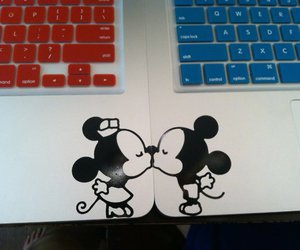 minnie, mickey, and kiss image