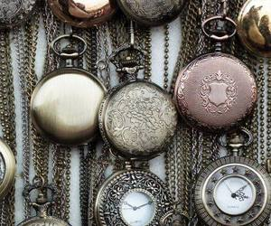 pocket watch, retro, and time image