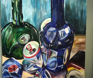 acrylic paint, glass, and paintings image