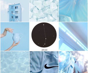 aries, blue, and zodiac image