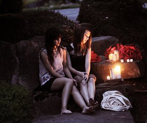 candles, female, and girlfriends image