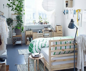 plants, white, and bedroom image