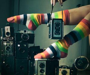 camera, socks, and photography image
