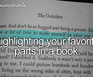 book, the outsiders, and littlereasonstosmile image