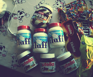fluff, nutella, and chocolate image