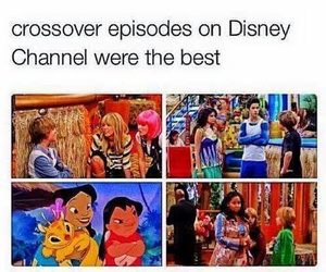 funny, disney channel, and crossover image