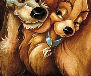 disney, dog, and lady and the tramp image