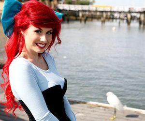 ariel, red hair, and cosplay image