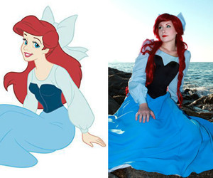 ariel, costume, and disney image