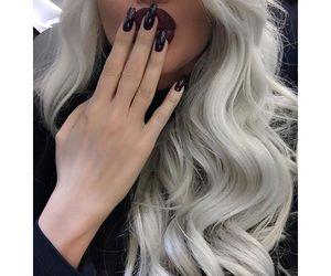 beauty, white hair, and girla image