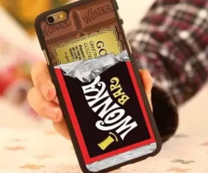 iphone, chocolate, and phone image