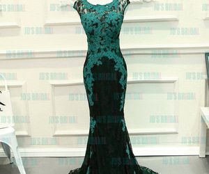 evening dress, prom gown, and mermaid image