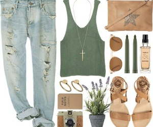 outfit, Polyvore, and summer image