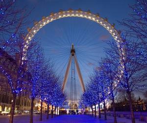 london eye, season, and winter image