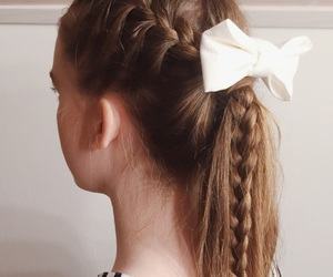 braid, hair, and ribbon image