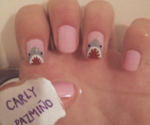 shark, kawaii, and nail art image