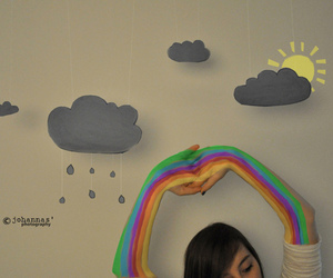 rainbow, cute, and colors image