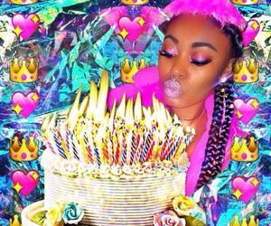 birthday, braids, and cake image