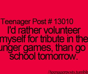 school, hunger games, and teenager post image