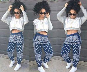 outfit, hair, and swag image