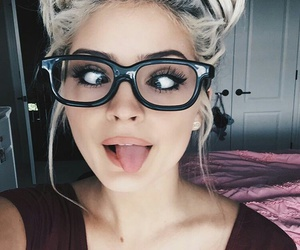 glasses, beauty, and hair image