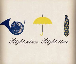 how i met your mother, himym, and yellow umbrella image