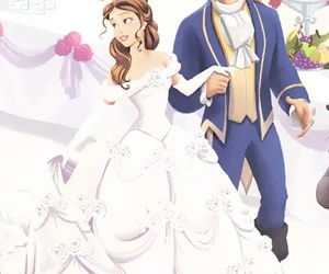 disney, wedding, and beauty and the beast image