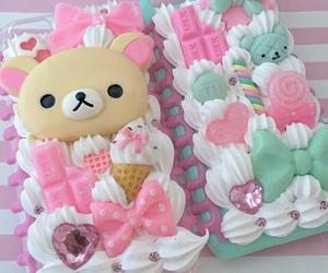 cake, rilakkuma, and colors image