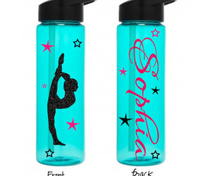 etsy, personalized gift, and plastic water bottle image