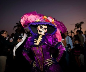 beautiful, skulls, and day of the dead image