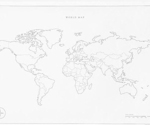 map, white, and world image