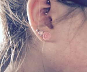 piercing, rook, and teen image