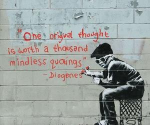 quote, BANKSY, and graffiti image