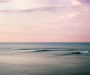 nature, ocean, and pink image