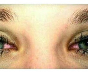 eyes, weed, and red image