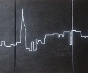 city, new york, and black image