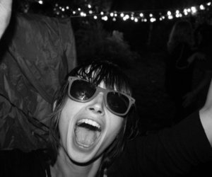 black and white, girl, and party image