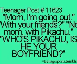pikachu, boyfriend, and mom image