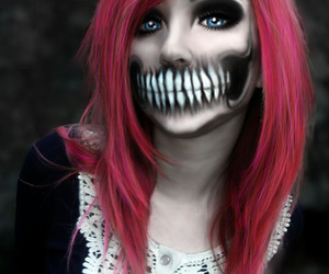 Halloween, makeup, and emo image