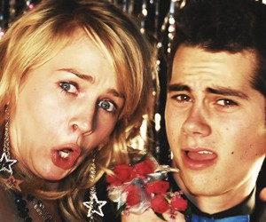 britt robertson, dylan o'brien, and the first time image