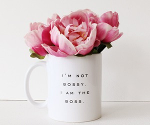 flowers, boss, and pink image