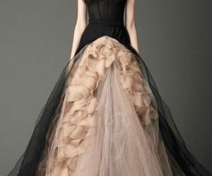 dress, black, and Vera Wang image