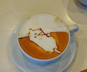 cat, coffee, and kawaii image