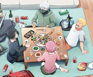 naruto, team 7, and kakashi image
