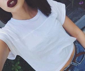 girl, grunge, and lips image
