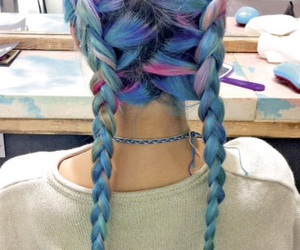 'hair', 'style', and 'blue' image