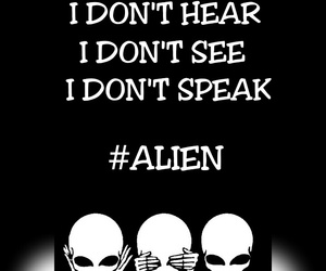 3, aliens, and black&white image