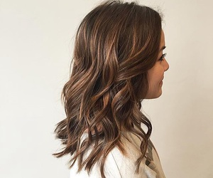 brunette, girl, and long bob image